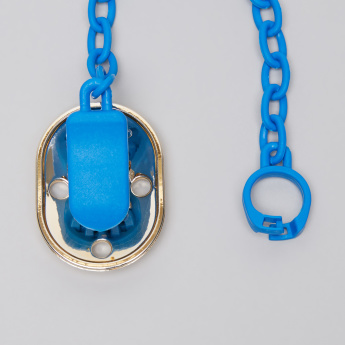 Suavinex Metallic Soother Clip with Chain