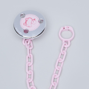 Suavinex Printed Soother Clip with Chain