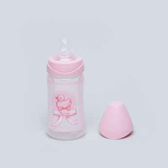 Sauvinex Feeding Bottle with Pacifier and Chain