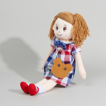 Juniors Rag Doll with Chequered Dress
