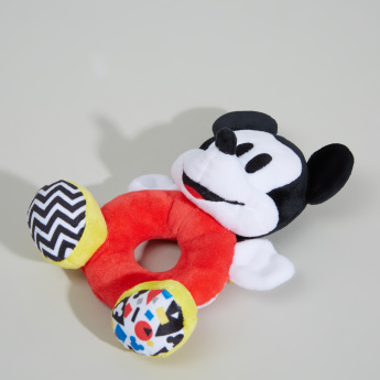 Mickey Mouse Shaped Plush Ring Rattle