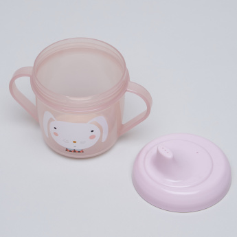 Petit Monkey Rabbit Printed Training Cup with Lid