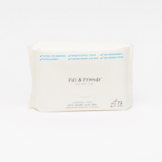 Fifi & Friends Organic Aloe Vera 72-Piece Cleansing Baby Wipes
