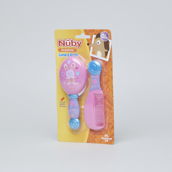 Nuby Printed Comb and Brush