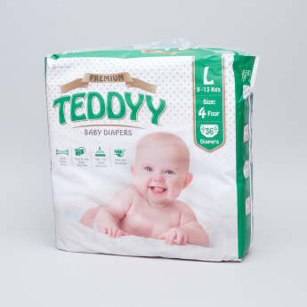 Teddyy Premium Diapers Large - 36 Pieces