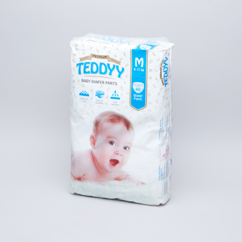 Teddyy Premium Diapers Medium - 40 Pieces