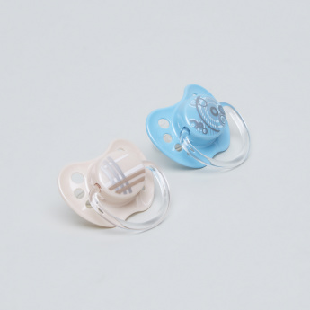 nip Basic Size 1 Soother with Handle - Set of 2
