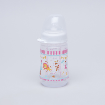 nip Printed Wide Neck Feeding Bottle - 260 ml