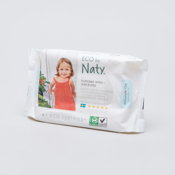 Naty Flushable Wipes - 42 Pieces