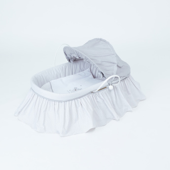 Cambrass Frill Detail Moses Basket