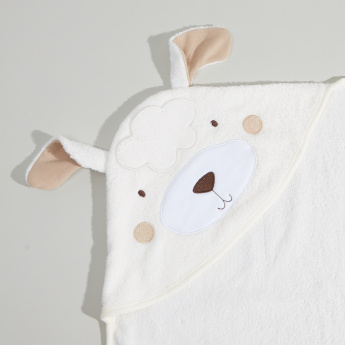 Juniors 3D Sheep Hooded Cotton Towel - 80x80 cms