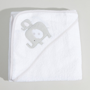 Juniors Hooded Towel with 5-Piece Printed Washcloths - 76x76 cms