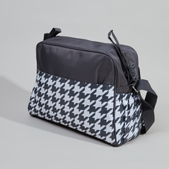 Juniors Printed Diaper Bag with Sling Strap