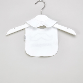 Juniors Embroidered Applique Detail Bib with Snap Button Closure