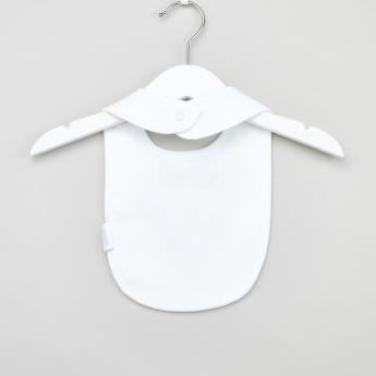 Juniors Embroidered Bow Detail Bib