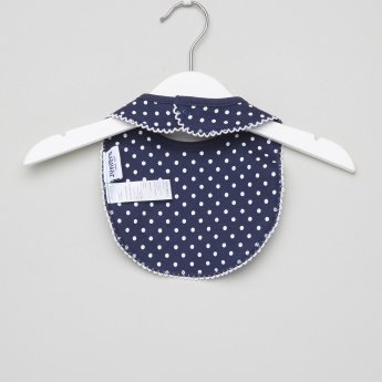 Juniors Dot Printed and Embroidered Bib