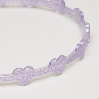 Charmz Glitter Heart Detail Hair Band