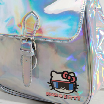 Hello Kitty Applique Detail Backpack with Pin Buckle Closure