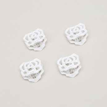 Charmz Flower Shaped Hair Clamp - Set of 4