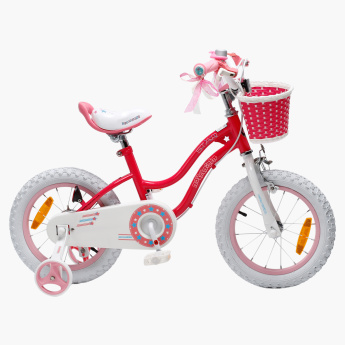 Royal Baby Star Girl Bicycle with Training Wheels - 12 inches