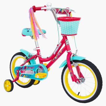 SPARTAN Angel Bicycle with Training Wheels - 14 inches