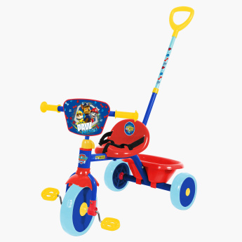 PAW Patrol Printed Tricycle with Pushbar and Adjustable Seat.