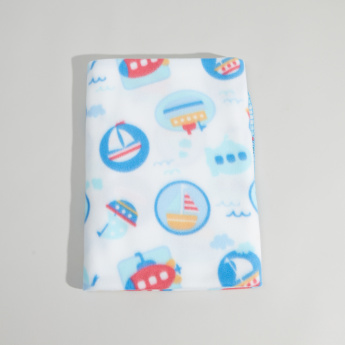 Juniors Ship Printed Blanket - 76x102 cms