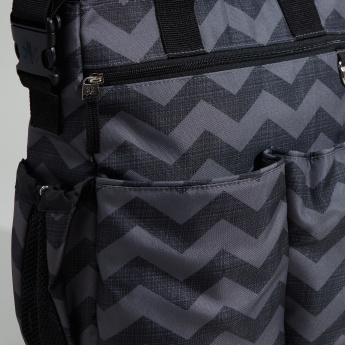 Skip Hop Chevron Printed Diaper Bag with Changing Pad