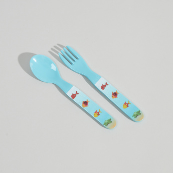 Juniors 4-Piece Ocean Printed Feeding Set