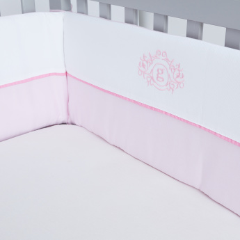 Giggles Colourblock Panelled Cot Bumper