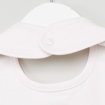 Juniors Lamb Embroidered Bib with Snap Button Closure