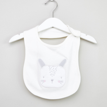 Juniors Bunny Embroidered Bib