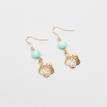 Charmz Beaded Earrings with Cutout Detail