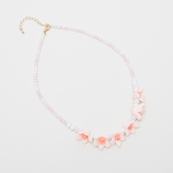 Charmz Floral Necklace with Lobster Clasp Closure