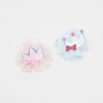 Charmz Applique Detail Hair Tie - Set of 2
