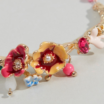 Charmz Flower Detail Bracelet with Lobster Clasp