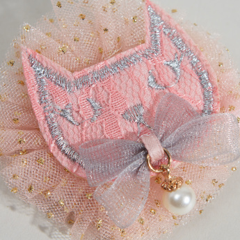 Charmz Hair Clip with Pearl Embellishment and Mesh Detail