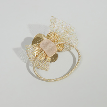 Charmz Floral Embellished Hair Tie