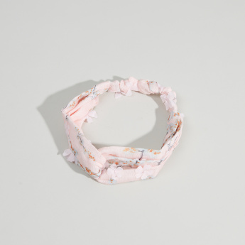 Charmz Floral Printed Embellished Hairband