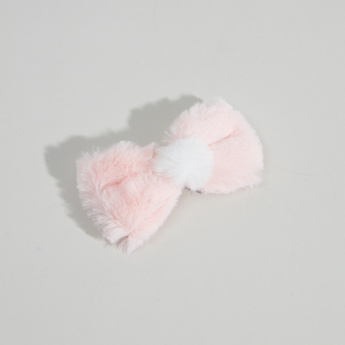 Charmz Plush Duckbill Hairclip with Pom-Pom Detail