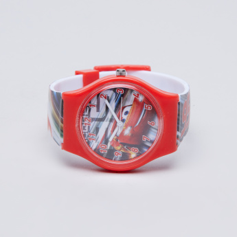 Cars Printed Analogue Wristwatch