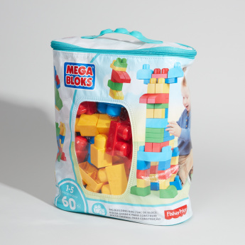 Fisher-Price Mega Blocks 60-Piece First Builders Building Bag Playset
