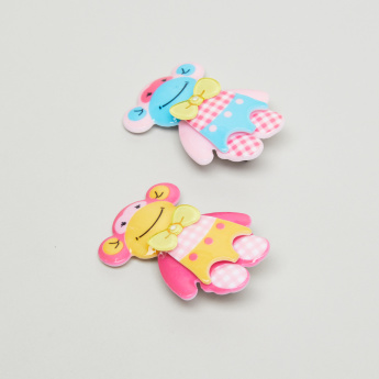 Charmz Hair Clips with Applique Detail - Set of 2