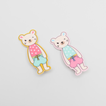 Charmz Teddy Bear Hair Clips - Set of 2