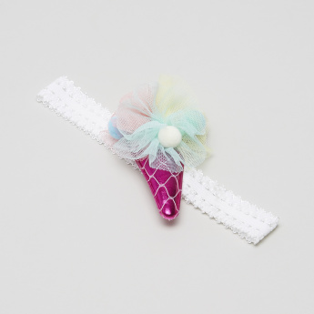 Charms Embellished Fabric Hair Band