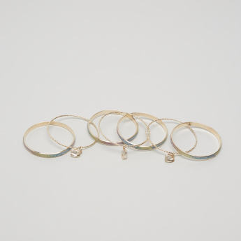 Charmz Metallic Bangles - Set of 7