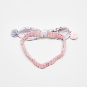 Charmz Bow and Pom-Pom Detail Headband