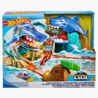 Hot Wheels City Shark Beach Battle Playset