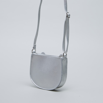 Charmz Applique Detail Sling Bag with Zip Closure