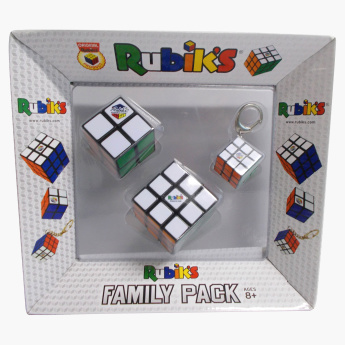 Rubik's 3-Piece Family Pack Cube Set